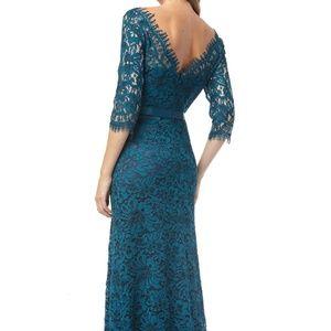 JS Collections Bateau Neck Lace Gown Dress 4 Grosg